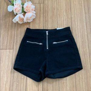 NWT black high waisted booty shorts from Guess